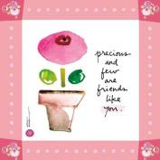 WL SS-WL-22137 Precious & Few Canvas Wall Art with Flower Pink Borders, 20cm by 20cm