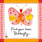 WL SS-WL-22147 Find Your Inner Butterfly Canvas Colourful Wall Art, 20cm by 20cm
