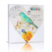 Green Frog Canvas Gallery Wrapped Art Decor, Love Note I