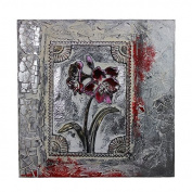 Essential Décor Entrada Collection Framed Flower Canvas Oil Painting, 60cm by 60cm