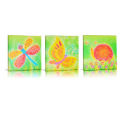 Green Frog Canvas Gallery Wrapped Art Decor, Friendly Critters