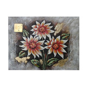 Essential Décor Entrada Collection Floral Hand Painting Artwork, 35.4 by 120cm by 3cm