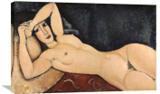 Global Gallery Amedeo Modigliani Reclining Nude Stretched Canvas Artwork