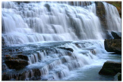 Picture Sensations Glow in The Dark Canvas Wall Art, Waterfall