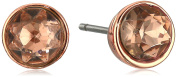 "Lonna & Lilly ""Glamour"" Rose Gold-Tone Button Stud Earrings"
