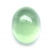 4.04 Ct. Natural Oval Cabochon Green Prehnite Loose Gemstone