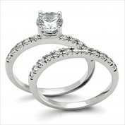 .85ct Brilliant Bridal Wedding ring designer fashion Set