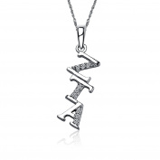 Zeta Tau Alpha Diagonal Silver Lavalier