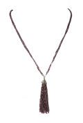 Zad Jewellery Long Beaded Tassel Necklace