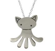 Mark Poulin Women's Pewter Necklace Cat-Octopus 46cm Chain