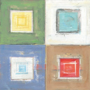 GreenBox Art and Culture Metro Squares Stretched Canvas Wall Art by Roger Groth, 60cm by 60cm