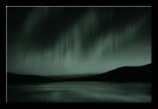 Picture Sensations Glow in The Dark Canvas Wall Art, Northern Lights Aurora