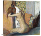 Global Gallery Edgar Degas After The Bath Stretched Canvas Artwork