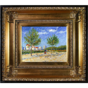 overstockArt On The Outskirts of Paris with Regency Gold Frame Oil Painting by Van Gogh