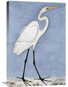Global Gallery Lucknow School Great Egret Stretched Canvas Artwork