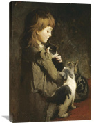 Global Gallery Abbott Handerson Thayer The Favourite Kitten Stretched Canvas Artwork