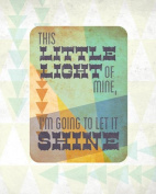 Wheatpaste Art Collective Canvas Wall Art Little Light Shine by Fancy That Design House and Co., 60cm by 80cm