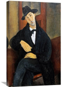 Global Gallery Amedeo Modigliani Portrait of Mario. Stretched Canvas Artwork