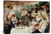 Global Gallery Pierre Auguste Renoir Luncheon of The Boating Party Stretched Canvas Artwork