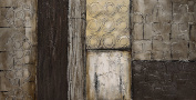 """Empire Art Direct """"Stacked 5.1cm Original Textured Metallic Oil Painting by Martin Edwards"""