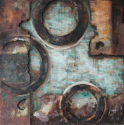 """Empire Art Direct """"Revolutions 5.1cm Mixed Media Hand Painted Iron Wall Sculpture by Primo"""