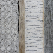 "Empire Art Direct ""Peaceful Grey"" Original Textured Metallic Oil Painting by Martin Edwards"