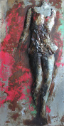 """Empire Art Direct """"Catwalk"""" Mixed Media Hand Painted Iron Wall Sculpture by Primo"""