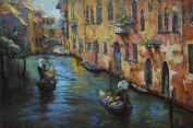 """Empire Art Direct """"Venice"""" Mixed Media Hand Painted Iron Wall Sculpture by Primo"""