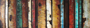 """Empire Art Direct """"Rustic Flow 2.5cm Mixed Media Hand Painted Iron Wall Sculpture by Primo"""