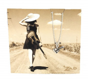 Zad Jewellery 'Rock On' Guitar Mini Pendant Necklace, Silvertone
