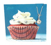 Zad Jewellery 'Sweets' Cupcake Mini Pendant Necklace, Silvertone