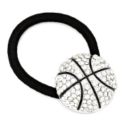 Crystal Pave Basketball PONYTAIL TIE HOLDER / AZHAPH026-SBC