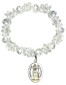 Goddess Artemis Gift of Achievement Silver Charm Crystal Bracelet