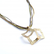 Hammered Brass Necklace Layering Modern Antique Matte Gold Jewellery Gift BN240-MG