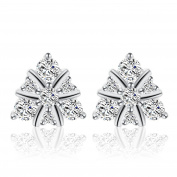 Ashley Jeweller 2016 New Women Fashion Jewellery Triangle Ladies 925 Silver Stud Earrings