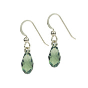 Sterling Silver and Rainforest Drop Earrings