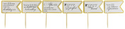 All About Details Gold Matte 50th Birthday Quotes Cupcake Toppers, Set of 12