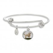 The Adjustable Band Bangle Bracelet featuring the Poodle