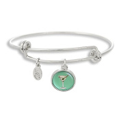 The Adjustable Band Bangle Bracelet featuring the Martini Glass