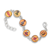 The Classic 13MM 6-Link Bracelet featuring Flash Tattoo favourites