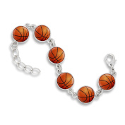 The Classic 13MM 6-Link Bracelet featuring Basketballs