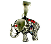 Patriotic Pewter Tones Elephant Neckslide