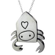 Mark Poulin Women's Pewter Necklace Hermit Crab 46cm Chain