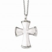 Best Birthday Gift Stainless Steel Polished Cross 46cm Necklace