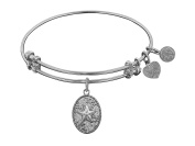 """Angelica Collection Non-antique Stipple Finish Brass """"starfish"""" Expandable Bangle"""
