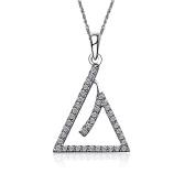 Phi Sigma Sigma Triangle Silver Lavalier