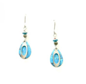 Silver Forest of Vermont Silver Turquoise and Silver Tone Teardrop Earrings