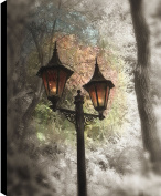 HobbitHoleCo Gallery Wrapped 46cm by 60cm Landscape Photography on Canvas, P.T. Turk, Street Lamps