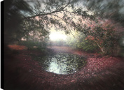 HobbitHoleCo Gallery Wrapped 90cm by 60cm Landscape Photography on Canvas, P.T. Turk, The Pond