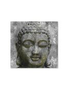 Abbott Collection Buddha Head Wall Canvas